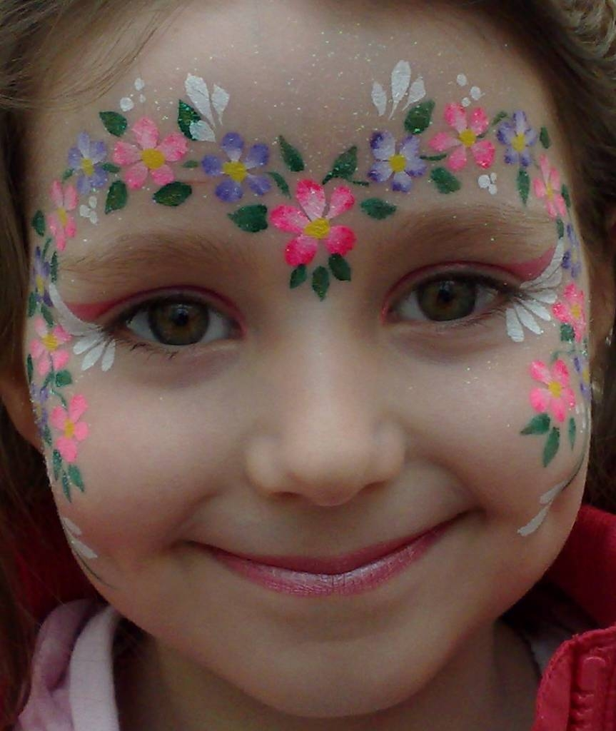 easy face painting designs - 736×873