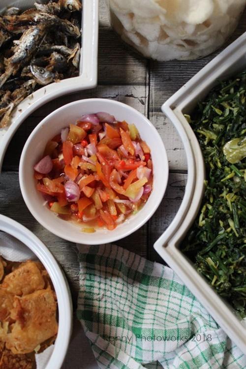 resep sayur pakis tumis bunga pepaya3