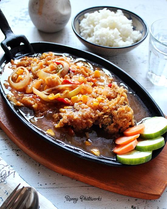 resep ayam geprek asam manis hot plate2