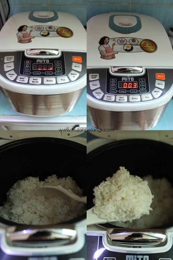 masak nasi putih pakai mito digital rice cooker